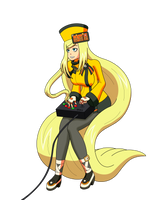 Millia Rage playing a fighting game by MegatronMan