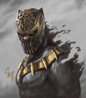 Killmonger by samdoarts