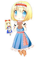 Chibi Alice Margatroid by yanano