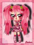 Cherry Miku by StrawberryCakeBunny
