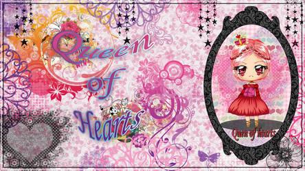 Queen of Hearts wallpaper by StrawberryCakeBunny