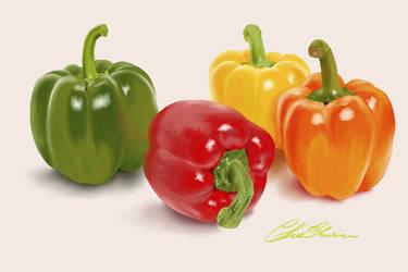 Bell Pepper by StrawberryCakeBunny