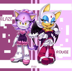 Blaze and Rouge style mix by Fivey