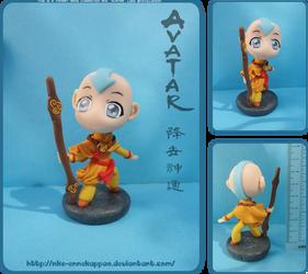 Chibi Avatar Aang figure by Nko-ennekappao