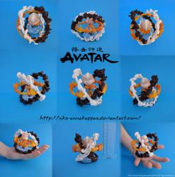 Avatar Aang chibi figure by Nko-ennekappao
