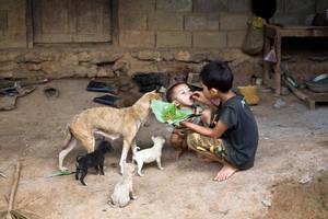 Laos Village Life III by emrerende