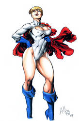 Powergirl Pinup by AllPat