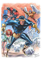 X-Men after George Tuska by AllPat
