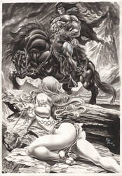 The Savage Sword of Conan by AllPat
