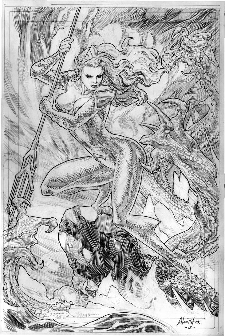The strength of Queen Mera by AllPat