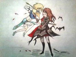 Angel vs Vampire by ItachiSasukesWolfie