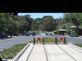 Looking East at the new Tram Stop by ryanthescooterguy