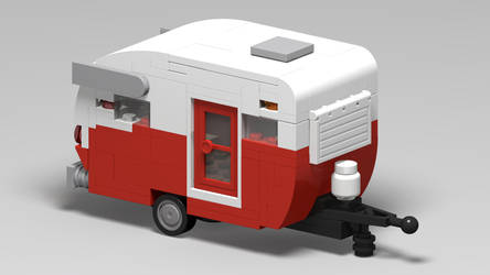 LEGO Shasta Airflyte (POVray) by ryanthescooterguy