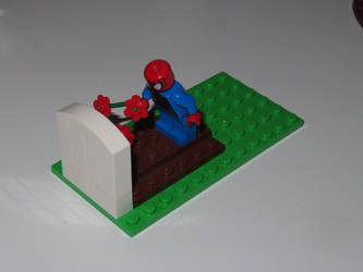 Spidey mourning Stan in LEGO! by ryanthescooterguy