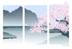 Sakura Tree Wallpaper by HarlequinsTears