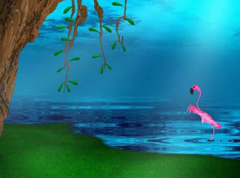 Flamingo Decending - WIP by sharkrey