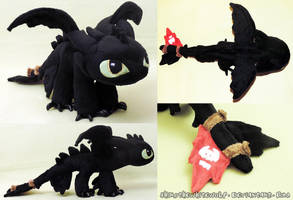 [PLUSHIE] Mini Toothless v 1.1 SOLD by ShiroTheWhiteWolf