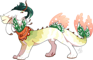 U019 - First Snow (AUCTION/CLOSED) by ShiroTheWhiteWolf