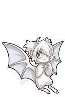 #1447 Bagbean - Ghost Bat by ShiroTheWhiteWolf