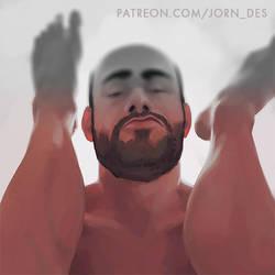 Men painting practice 25 by Jorn-des