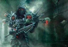 Warlock w ciemnosci by Hadvi