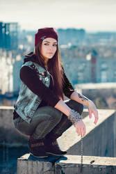 InFAMOUS: Delsin Rowe rooftop 2 by MarikaGreek