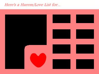 Harem/Love List/Chart by 4xEyes1987