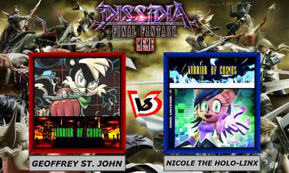Dissidia Sonic The Hedgehog ~ Geoffrey VS NICOLE by 4xEyes1987
