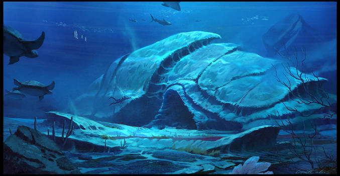 Underwater Temple by UnidColor