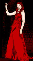 Vampire In A Red Dress by Spirallee