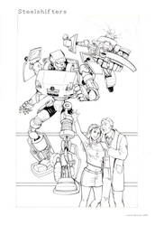 Steelshifters - COMIC COVER (Inks) by RoboMommy