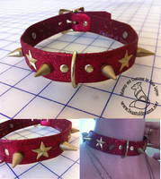 Red Leather Collar for Mel by theassassinnox