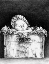 Baby on a Box... by ESQFineArts