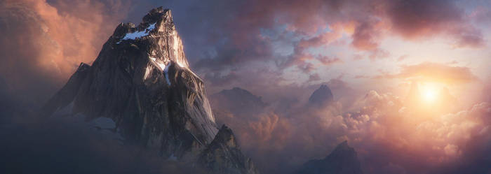 Mountain in the Clouds by Jessica-Rossier