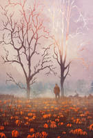 Fall and Pumpkin by Jessica-Rossier