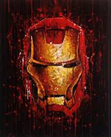 Iron Man Splat Painting by JonARTon