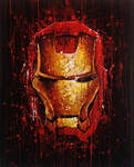Iron Man Splat Painting by JonARTon