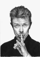 David Bowie Pencil Portrait by JonARTon