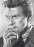 David Bowie Smoking Pencil Portrait by JonARTon
