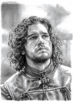 Jon Snow Pencil Portrait by JonARTon