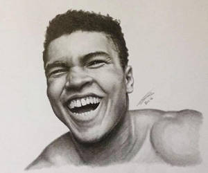 Muhammad Ali Smile Pencil Portrait by JonARTon