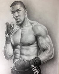 Anthony Joshua Graphite Portrait. by JonARTon