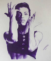 Prince in Purple Ballpoint Pen. by JonARTon