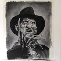 Freddy Krueger in Charcoal by JonARTon