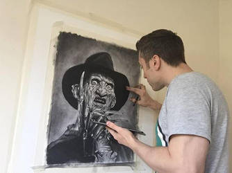 Freddy Krueger in Charcoal (WIP) by JonARTon