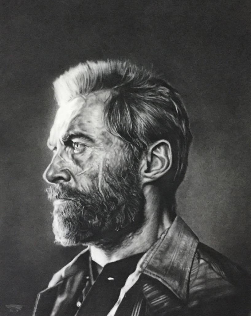 Hugh Jackman as Logan in Charcoal by JonARTon