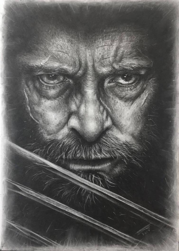 Hugh Jackman as Logan in Charcoal 2 by JonARTon