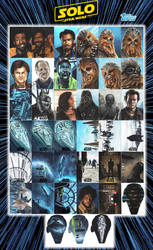 Solo - A Star Wars Story sketch cards. by JonARTon