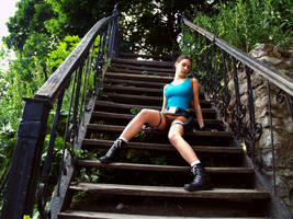 Lara Croft - Come downstairs by TanyaCroft