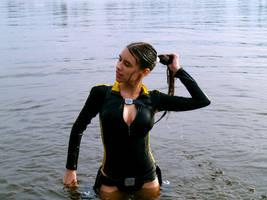 Lara Croft wetsuit cosplay by TanyaCroft